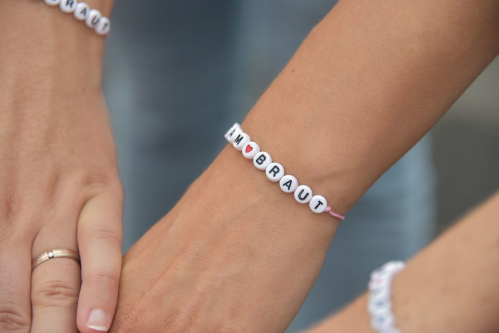 JGA Fotoshooting Armband Braut