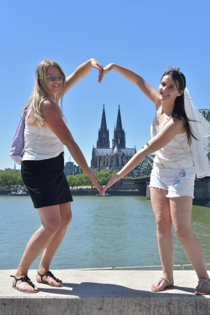 JGA Fotoshooting Kölner Dom Herz