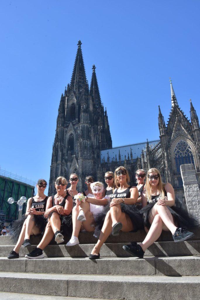 JGA Fotoshooting Kölner Dom Früh